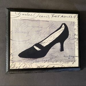 Shoe Pump Print Art